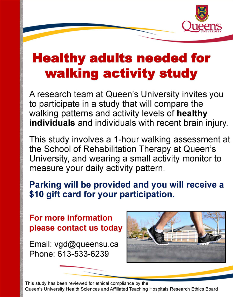 Gait and Walking Activity in Healthy Adults