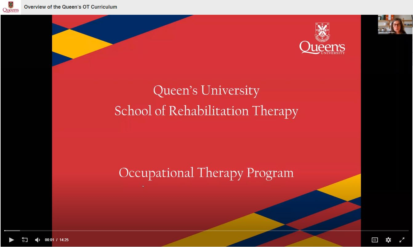 Video Title: Overview of the Queen's OT Curriculum