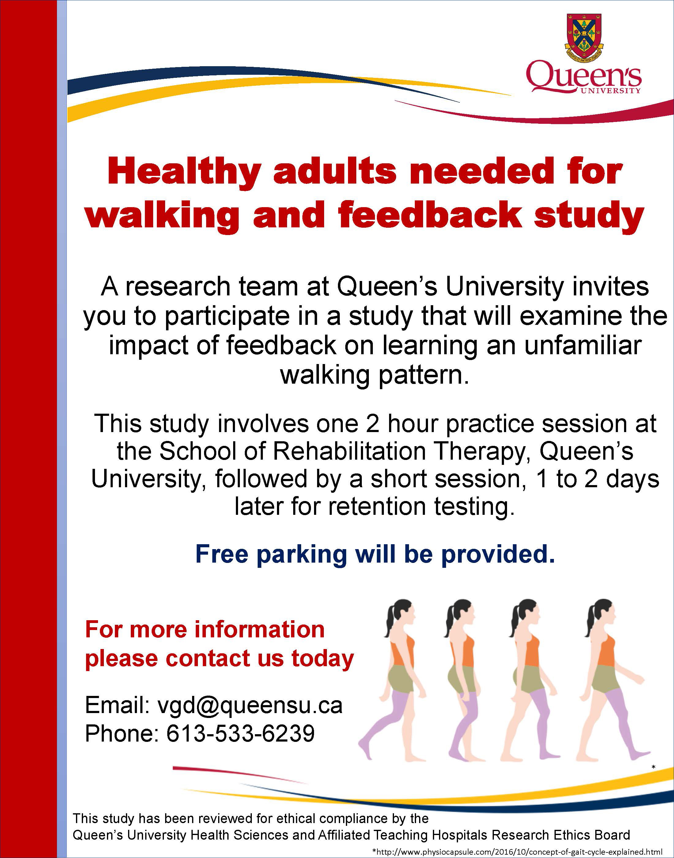 Feedback, Gait and Learning Study