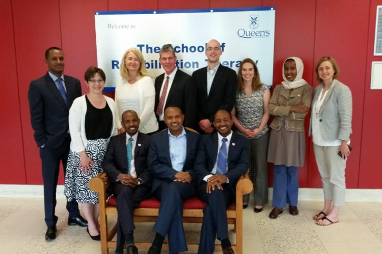 Representatives from Queen's, the University of Gondar and The Mastercard Foundation during a visit to Kingston in May 2016.