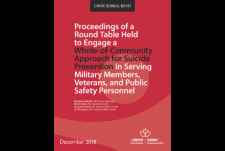Cover of December 2018 Report on Suicide Prevention Round Table
