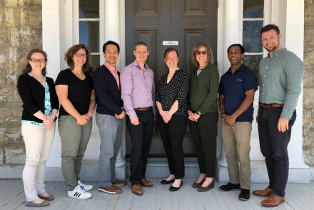 Dr. Jordan Miller and the Advancing primary health care (PHC) research lab group.